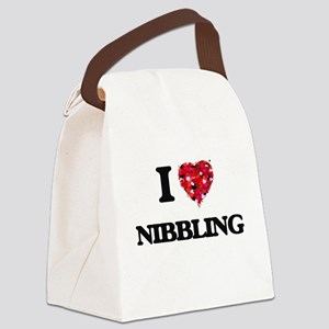 I Love Nibbling Canvas Lunch Bag