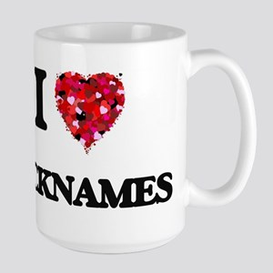 I Love Nicknames Mugs