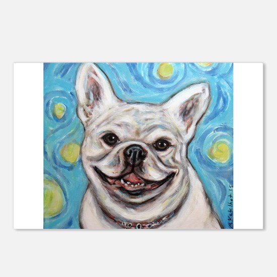 Funny French bulldogs Postcards (Package of 8)