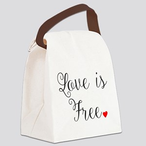 Love is Free Canvas Lunch Bag