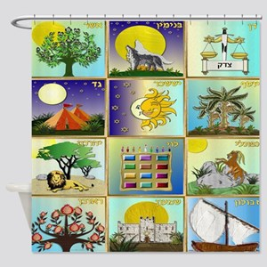 12 Tribes Of Israel Shower Curtain