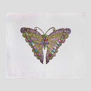 Colorful_butterfly_78_trans Throw Blanket