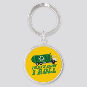 Recycling Truck Keychains