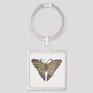 Colorful_butterfly_78_trans Keychains