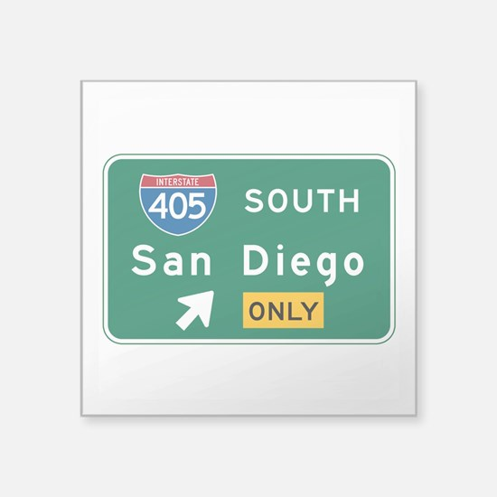 "Cute Us cities Square Sticker 3"" x 3"""