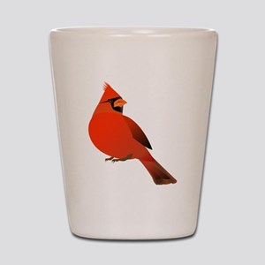 Red Cardinal Shot Glass