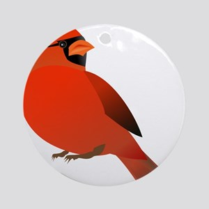 Red Cardinal Ornament (Round)