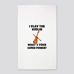 I Play The Violin Whats Your Super Power? Area Rug