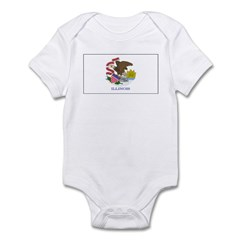 Illinois Blank Flag Infant Bodysuit