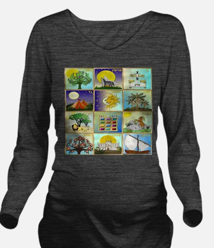 12 Tribes Of Israel Long Sleeve Maternity T-Shirt