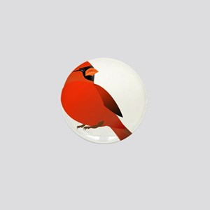 Red Cardinal Mini Button