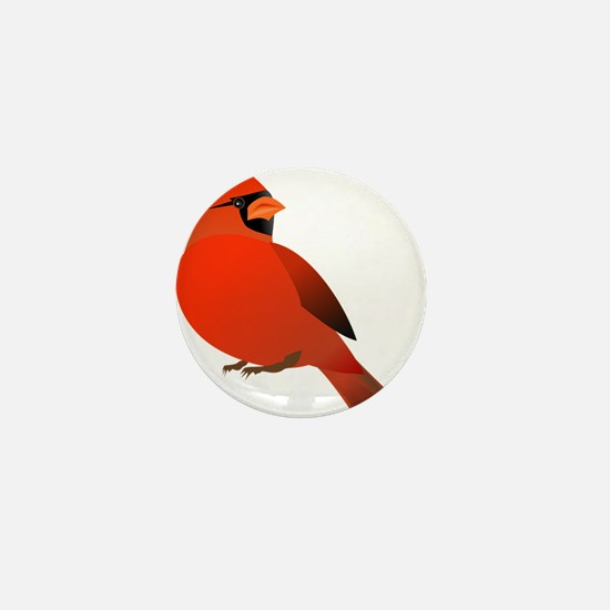 Red Cardinal Mini Button