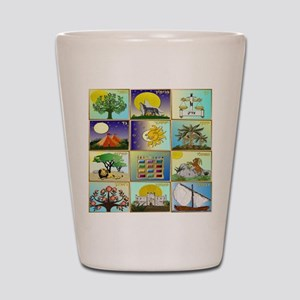 12 Tribes Of Israel Shot Glass