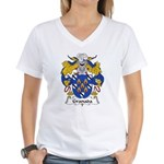 Granada Family Crest Women's V-Neck T-Shirt