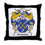 Granada Family Crest Throw Pillow