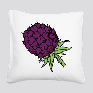 Blackberry Square Canvas Pillow