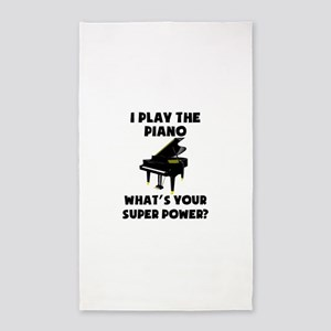 I Play The Piano Whats Your Super Power? Area Rug