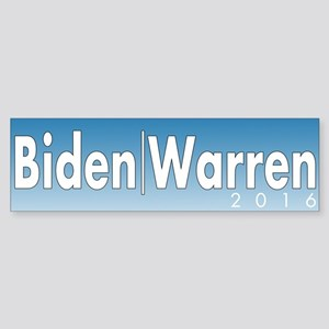 Biden Warren 2016 Sticker (Bumper)