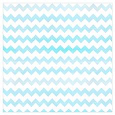 Blue Watercolor Chevron Zigzag Pattern Poster
