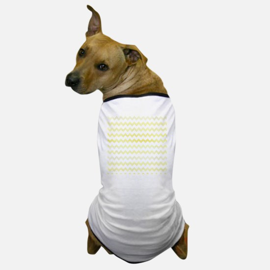Yellow Watercolor Chevron Zigzag Patte Dog T-Shirt
