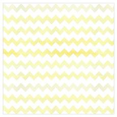 Yellow Watercolor Chevron Zigzag Pattern Poster