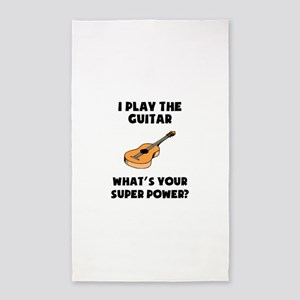 I Play The Guitar Whats Your Super Power? Area Rug