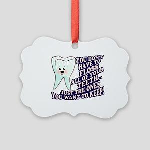 Dentist Dental Hygienist Picture Ornament
