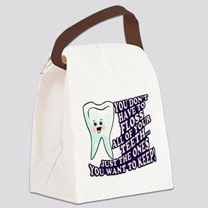 Dentist Dental Hygienist Canvas Lunch Bag