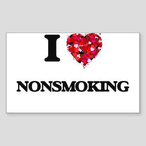 I Love Nonsmoking Sticker