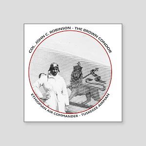 "Brown Condor & Lion of Juda Square Sticker 3"" x 3"""