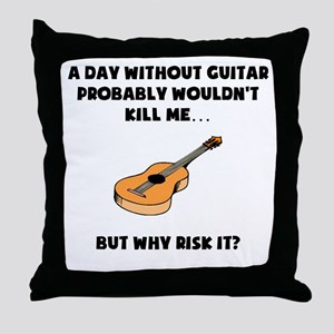 A Day Without Guitar Throw Pillow