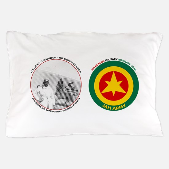 Brown Condor & Lion of Judah on Ethiop Pillow Case