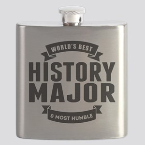 Worlds Best And Most Humble History Major Flask
