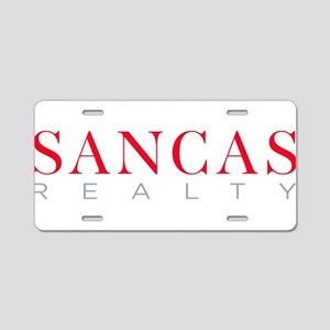 SANCAS Realty Logo Preferred Aluminum License Plat