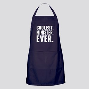 Coolest. Minister. Ever. Apron (dark)