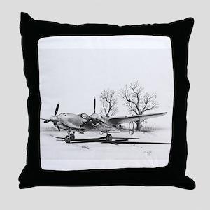 P-38 J Lightning Throw Pillow
