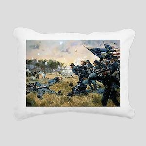 War Between Brothers Rectangular Canvas Pillow