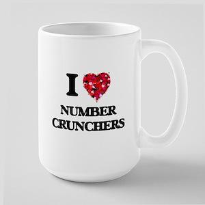 I Love Number Crunchers Mugs