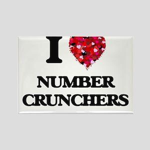 I Love Number Crunchers Magnets