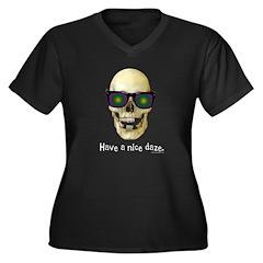 Have A Nice Daze Dark Women's Plus Size V-Neck Dar