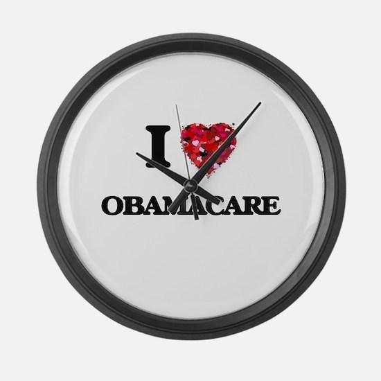 I Love Obamacare Large Wall Clock