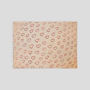Hearts 5'x7'Area Rug
