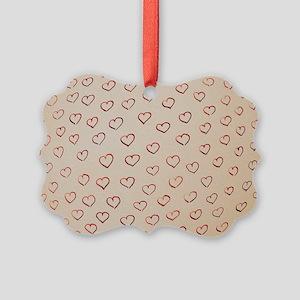 Hearts Picture Ornament