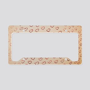 Hearts License Plate Holder