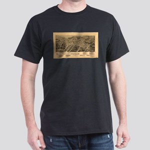 Vintage Pictorial Map of Durham NC (1891) T-Shirt