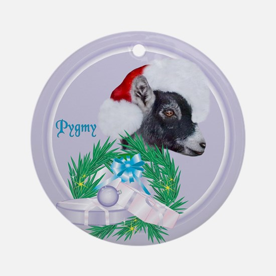 Pygmy Hat Goat Tropical Holiday Ornament