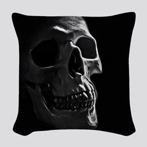 Human Skull Woven Throw Pillow