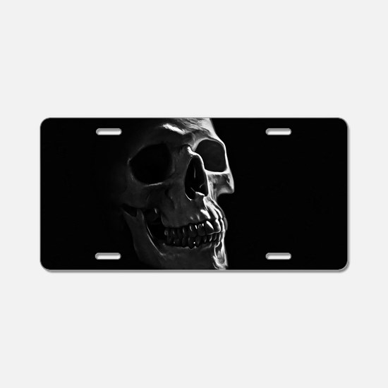 Human Skull Aluminum License Plate
