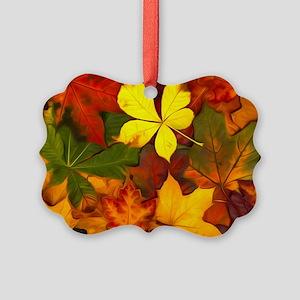 Colorful Autumn Picture Ornament