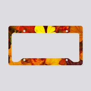 Colorful Autumn License Plate Holder